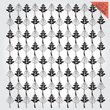 Background leaves seamless pattern set black and white Stock Photography