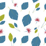 Background leaves. Summer breeze seamless pattern Stock Photos
