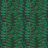Background with leaves. Vector texture with hand drawn leaves and plants. Vector pattern. Stylised flat different kind. Background of leaves. Vector pattern Stock Photography