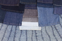 Background leg jeans are stacked. Royalty Free Stock Photo