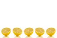 Background lemon row Royalty Free Stock Photos