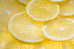 Background with lemon slices Royalty Free Stock Photos