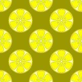 Background, lemons. Seamless background, pattern from symbolical yellow lemons royalty free illustration