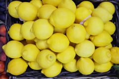 Background with a lemons Stock Image