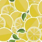 Background from lemons. Vector illustration stock illustration