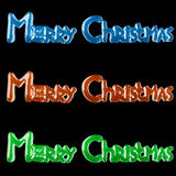 Background With Lettering Merry Christmas For Postcards Printing. (3d Illustration royalty free illustration