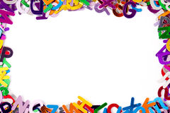 Background with letters Stock Photos