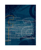 Background letters 2. Grunge background with letter elements Royalty Free Stock Photography