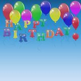 Background with letters of the balloons. Royalty Free Stock Image