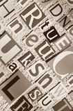 Letters cut out of newspapers and magazines Royalty Free Stock Images