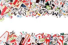 Background with letters from newspapers Royalty Free Stock Images