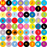 Background with letters, seamless pattern for kids Stock Photo