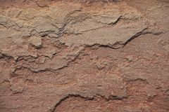 Background - Lichen covered cracked rock Royalty Free Stock Photography