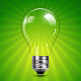 Background with light bulb Royalty Free Stock Photography