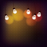 Background with light bulbs Royalty Free Stock Images