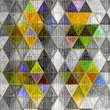 Triangle background in light colors effect patchwork knitted texture. Background in light colors effect patchwork knitted texture Stock Photos