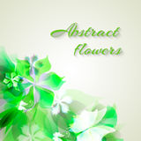 Background with light green abstract flowers Royalty Free Stock Photos