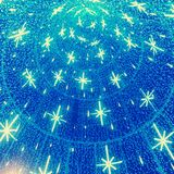 Background of a light tunnel on a Christmas tree stock photography