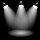 Background with lighting lamp. Stock Images