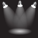 Background with lighting lamp. Empty space for your text Royalty Free Stock Image