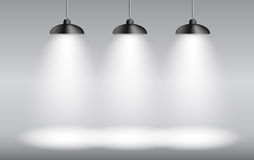 Background with Lighting Lamp. Empty Space for Royalty Free Stock Images