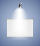 Background with Lighting Lamp and Frame. Empty Stock Photography