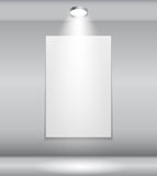 Background with Lighting Lamp and Frame. Empty Stock Image