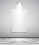 Background with Lighting Lamp and Frame. Empty Royalty Free Stock Photos