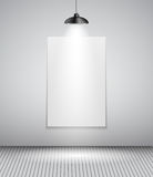 Background with Lighting Lamp and Frame. Empty Royalty Free Stock Photo