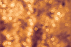 Background Lights Bokeh Abstract Orange Royalty Free Stock Photography