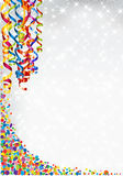 Background with lights, confetti and serpentine Stock Images