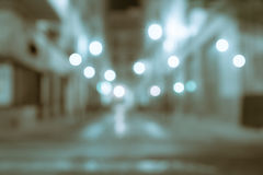 Background lights in gritty street abstract street between build Stock Photo