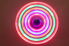Background of lights. Background of rainbow lights in circles Royalty Free Stock Image