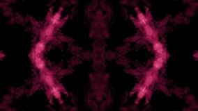 Background like Rorschach inkblot test26. Fluorescent pink ink or smoke, isolated on black in slow motion. Color drop in stock footage
