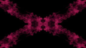 Background like Rorschach inkblot test1. Fluorescent pink ink or smoke, isolated on black in slow motion. Color drop in stock video footage