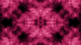 Background like Rorschach inkblot test13. Fluorescent pink ink or smoke, isolated on black in slow motion. Pink pigment stock footage