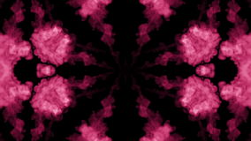 Background like Rorschach inkblot test12. Fluorescent pink ink or smoke, isolated on black in slow motion. Pink in water stock video