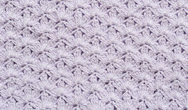 Lilac crochet background Royalty Free Stock Photo