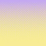 Background of lilac diamonds of different sizes on a yellow field. Vector abstract illustration for design of stylish and business products. Flat design royalty free stock photos