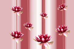 Background with lilies Royalty Free Stock Image