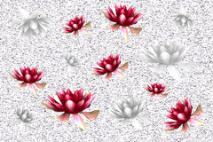 Background with lilies Royalty Free Stock Photos