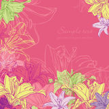 Background with lily Stock Images