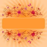 Background, lily and butterfly. Background for your text, flowers lily and butterfly Royalty Free Stock Image