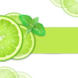 Background of lime. With mint Royalty Free Stock Images