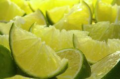 Background of limes Stock Photography