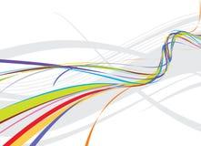 background line rainbow wave Στοκ εικόνες με δικαίωμα ελεύθερης χρήσης