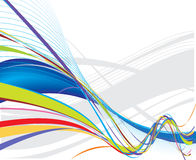 background line rainbow wave διανυσματική απεικόνιση