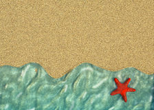 Background with a line of sea water Royalty Free Stock Image