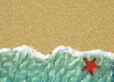 Background with a line of sea water Royalty Free Stock Photo