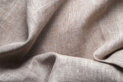 Background of linen napkin folded in folds Royalty Free Stock Images